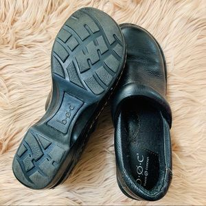 boc Shoes - B. O. C.   Black Peggy Casual Comfort Clog - 6.5